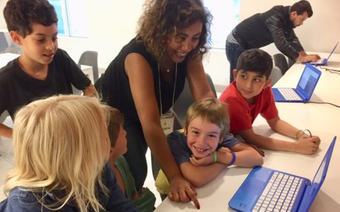 Volunteering as Mentors for Kids Learning Code